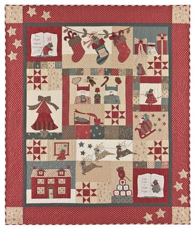 The Night before Christmas Quilt Anleitung von Bunny Hill Design 1,32m x 1,57m