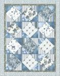 Materialpackung `Rosengarten in blau` Stoffe `Rosies Journey` 1,50x1,93m