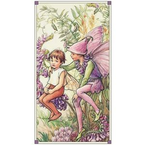 Patchworkstoff Fee, Elfe, Flower Fairy Panel Magical, Magic; 60x112cm