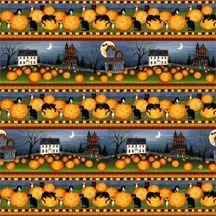 Halloween Stoff Border