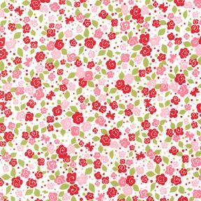 Patchworkstoff Strawberry Tea Party Blooms Kleine Blumen