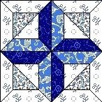 Quilt Block Februar 12,5 inch Quadrat WHITE CROSS