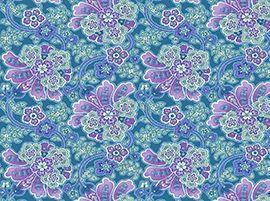 Patchworkstoff Marissa Flowers Blumen lila türkis