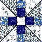 Quilt Block Anleitung mit Stoff PROPELLER 12,5 Inch Quadrat FB-02
