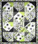 Materialpackung Quilt *Fantasia* mit Nähanleitung grün-schwarz 155 x 198 cm MP21-0109