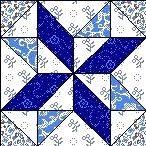 Quilt Block  Anleitung mit Stoff MOSAIC NO.13     12,5 Inch Quadrat FB-12
