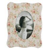 Clayre & Eef Fotorahmen Rosen auf beige 10x15cm