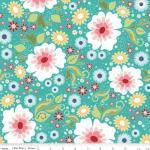 Patchworkstoff Quilt Stoff Apple of my Eye blaue Blumen