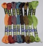 Gundis Garden Stickgarn D.M.C. 117, 8 Farben