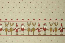 Dekostoff Kopernikus Border Rentier Elch Weihnachten Wichtel