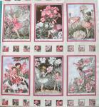 Flower Fairy Fee 6 kleine Bilder, Teil B, Apfelblüte; gesamt 60x56cm