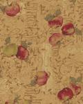 Herbst Stoff Äpfel auf gold