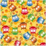 Patchworkstoff Stoff Quilt Serie SWINGING LEAVES Eulenwald gelb 140cm