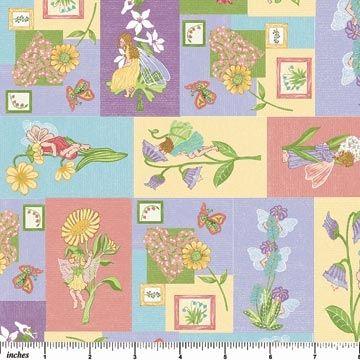 Blumen Elfen in pastell 45x110cm