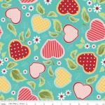 Patchworkstoff Quilt Stoff Apple of my Eye türkis Apfel