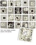 Auslaufmodell Herbst 2020 *Urbanicity* Panel 90 x 110 cm Quadrate schwarz grau weiß braun 4150-09