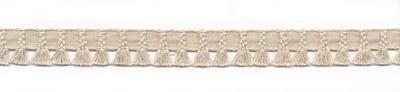 Borte `Plumette` Quastenband natur, 12mm breit