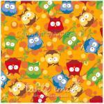 Patchworkstoff Stoff Quilt Serie SWINGING LEAVES Eulenwald orange
