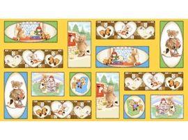 Patchworkstoff  Stoff Quilt Popcorn Bear Bär Panel 60x110cm