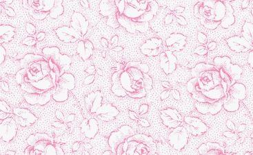 Patchworkstoff Westfalen Serie Rosengarten; weiß - rosa 150cm