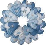 Materialpackung `Feelin Blue` Kranz aus Herzen blau