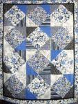 Materialpackung Quilt *Fantasia* blau-schwarz 155 x 198 cm MP21-0074