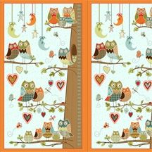 Patchworkstoff Quilt Stoff Panel Owl Wonderful 60cm x 110cm