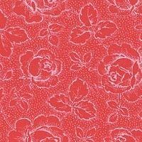 Patchworkstoff Westfalen Serie Rosengarten; rot-weiß 150cm