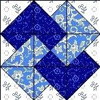 Quilt Block Anleitung mit Stoff CARD TRICK 12,5 inch Quadrat FB-09