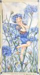 Patchworkstoff Elfe, Flower Fairy Panel Cornflower, Kornblume; 60x112cm