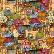 Patchworkstoff A quilters home Nancy Cupboard Zubehör Stoffe Schneiderei