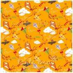 Patchworkstoff Stoff Quilt Serie SWINGING LEAVES Drachenkanon orange 140cm