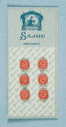AUSLAUFMODELL KL. rosa Knöpfe mit Blumenmuster 6 Stk. d=11mm